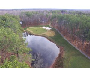 Aerial view of a golf course - aerial drone photography