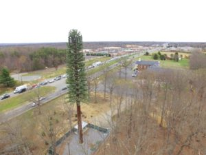 Cell Phone Tower Inspection - aerial drone photography