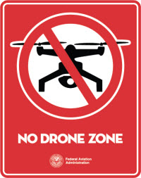 Aerial Drone Restricted Flight Zone Signs Coming Your Way Soon
